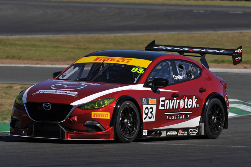 Camilleri scorches to record setting pole